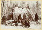 Ojibwe people gathering.