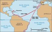 Vespucci's voyage map1