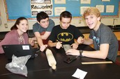 "West Students Study ""How Rubber Meets the Road"""
