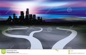 De wegen die naar de stad leiden is het INTERNET