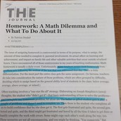 Homework: A Math Dilemma and What to Do About It