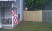 Your fence will look neat, level and professionally done!