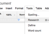 Use Google Research Tools in Google Docs