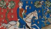 Portrait of King John hunting