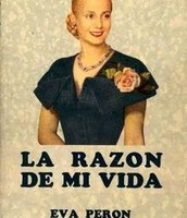 The cover of Evita's autobiography