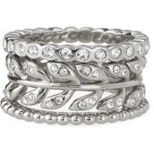 Laurel Stackable Rings, Size 8