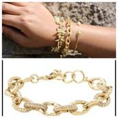 Christina Link Bracelet Gold - $25 (Retail $49)