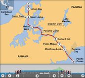 panama canal route
