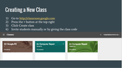 Creating a New Class in Google Classroom