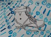 Fourth grade shoe  multi-media shoe project.