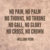 NO CROSS, NO CROWN!
