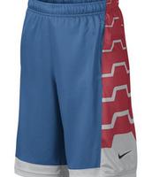 ¡De venta! Lebron, azul y rojo, pantalones cortos de baloncesto, Está hecho de algodón y tela sintética