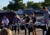 Prior to taking their STAAR test, South students were motivated by the Lobo Band Drumline.