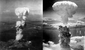The United States dropped atomic bombs on the Japanese cities of Hiroshima and Nagasaki in August 1945.