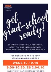Grad School Research/App/Interview Workshop (10/19)