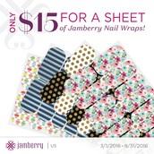 $15 per sheet of standard wraps