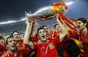 Spain Celebrating a Win