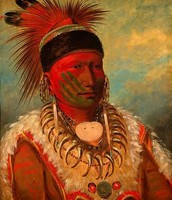 George Catlin's Master artwork:  The White Cloud, Head Chief of the Iowas