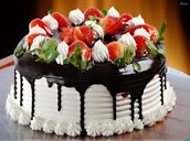 Vanilla Strawberry Drizzled Chocolate Cake~15.30$~40% OFF DAY OLD