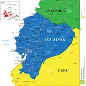 Relative location of Ecuador