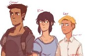 Drawing of the main characters