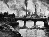 Factories creating pollution