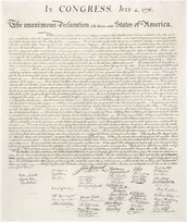 Where was the Declaration of Independence singed and where it took place?
