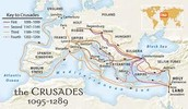 A Map where the Crusades happened