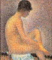 Studio-modella di profilo-, Seurat, 1887