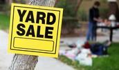 NEIGHBORHOOD-WIDE YARD SALES TWICE A YEAR