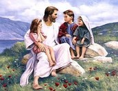 Jesus as a caring and loving person.