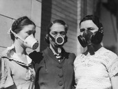 this is what people had to were when the dust bowl happened