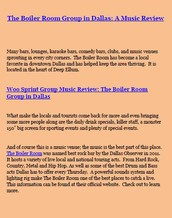 The Boiler Room Group in Dallas: A Music Review at Woo Sprint Group