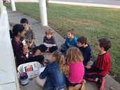 Enjoying reading outside on a warm December day!