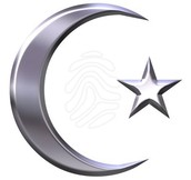 Symbol of Islam: crecsent with star