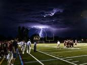 Lightning Strike on Football Field