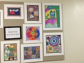Remynse Art display at the PDC-Thank you, Mrs. E. Lowe