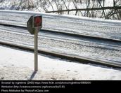 Snowmobile trail signs
