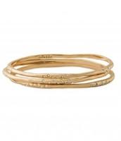 Rhea Bangles, Gold; Orig. $79, sale $30