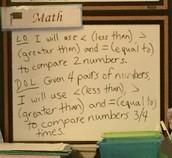 1st Grade Math LO & DOL