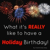 Since I've been a little tardy on the MM, I am playing catch up on birthdays. Sorry to all of our belated birthday folks!!