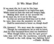 Poem by Claude McKay