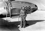Neil as a Navy fighter pilot during the Korean War