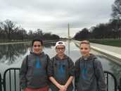 Me and my friends at the Washington monument