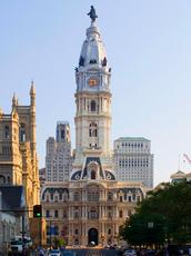 Vayan ayuntamiento de William Penn en la parte superior
