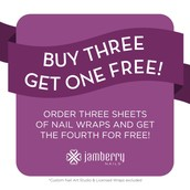 Don't forget our Wraps are Buy 3 Get 1 Free!