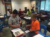 Mr. Kuszpit's students during a lab