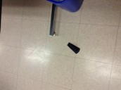 wedge doorstop at school