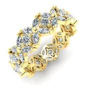 Petal Garland Diamond Eternity Ring