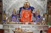 Worship Lord Ganesha (elephant head lord) at Khajraja temple
